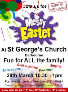 Messy Church Easter Saint Georges