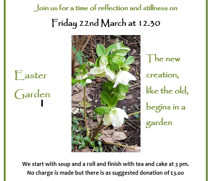Quiet Garden – Friday 22 March at 12.30