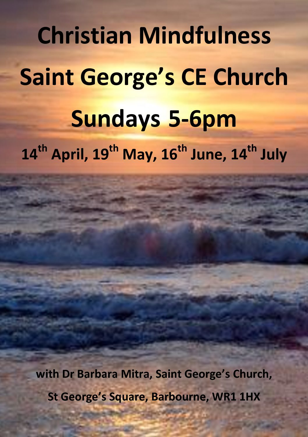 Christian Mindfulness Sunday 14th July 5-6pm